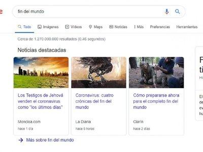 """""""Alcohol en gel"""" y """"fin del Mundo"""", lo más googleado en Paraguay"""