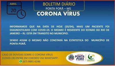 Detectan un nuevo caso positivo de coronavirus en Ponta Porã