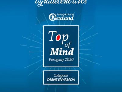 Frigorífico Neuland es elegido Top of Mind 2020: categoría carnes envasadas