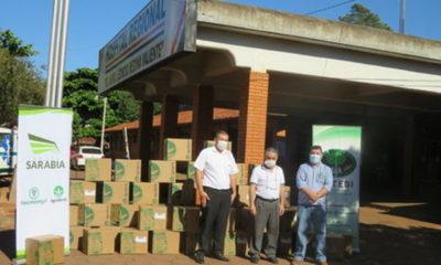 » Empresas del Grupo Sarabia donaron 1.000 litros de alcohol en gel al Ministerio de Salud