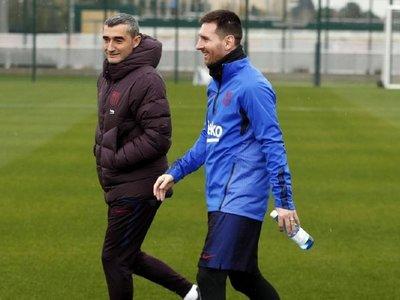 """Valverde: """"Entrenar con Messi no se puede comparar con nada"""""""