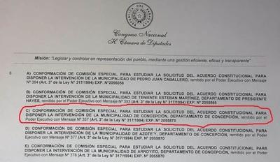 Pedido de intervención de la Municipalidad de Concepción será tratado en sesión extra