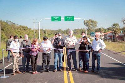 Inauguran ruta de 5 km en ciudad de Villa Oliva