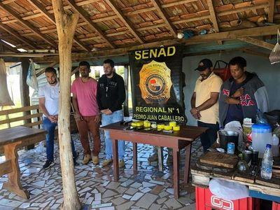 Cinco detenidos en operativo antidrogas en Capitán Bado