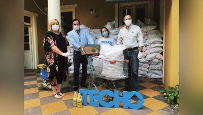 Desde marzo Techo recaudó G. 550 millones en donaciones para asentamientos