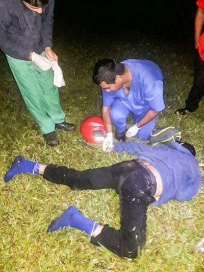 Fatal choque entre moto y colectivo