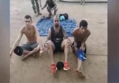 Detienen a tres hombres que cruzaron el río Paraná en colchón inflable
