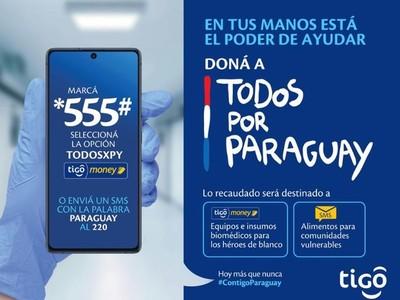 Donaciones para 'Todos por Paraguay' podrán realizarse también a través de Tigo