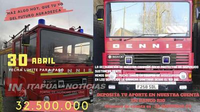 BOMBEROS DE CNEL. BOGADO CONTINÚAN COLECTA POR EL SUEÑO DEL CAMIÓN HIDRANTE