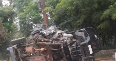 Volcó una camioneta en Mcal. López: tres personas resultaron heridas