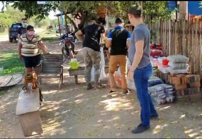 Músicos de Concepción dieron aporte en víveres a pobladores