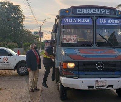 Dinatran suspenderá servicio de buses durante feriados de mayo