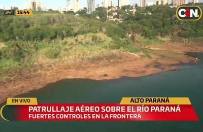Realizan patrullaje aéreo sobre el Río Paraná