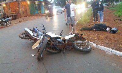 Mujer lesionada tras accidente