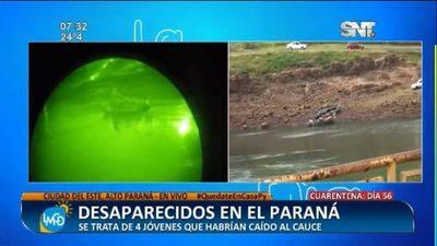 Cuatro hombres siguen desaparecidos en el río Paraná