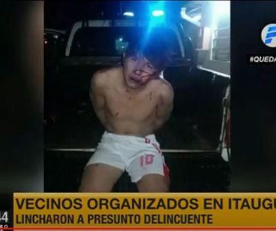 ''Vecinos unidos'' linchan a presunto delincuente en Itauguá
