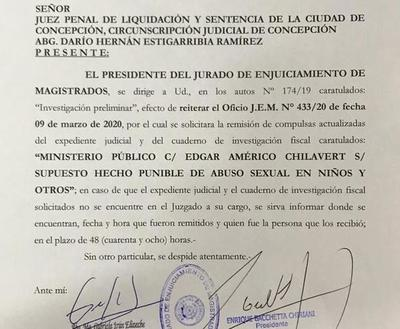 Caso Chilavert: JEM reitera pedido a Tribunal