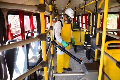 Previa desinfección, retornan buses de transporte público en CDE