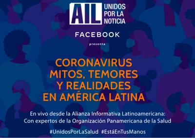Canales de Latinoamérica transmitirán especial online sobre coronavirus