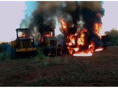 Grupo armado EPP sería responsable de quema de tractores