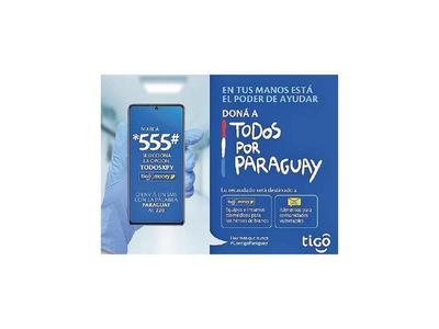 Tigo canalizó donaciones para Todos por Paraguay