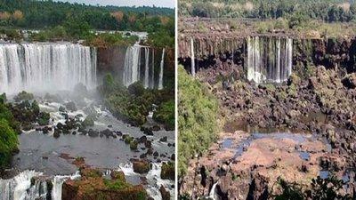 Cataratas del Yguazú: Poco caudal y falta de turistas