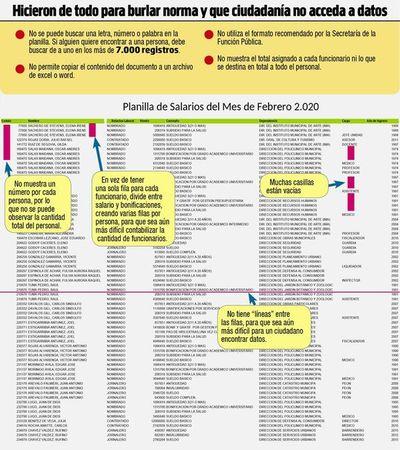 Violan Ley 5282 de Información Pública