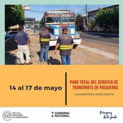 Servicio de buses al interior del país queda suspendido por feriado largo