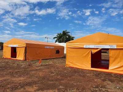 Covid-19: Montan carpas para albergar a compatriotas que vienen del Brasil