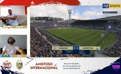 """Derlis González cae por la mínima ante el """"Kun"""" en amistoso eSports"""