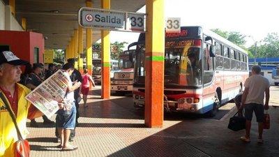 14 y 15 de mayo no habrá servicio de transporte público dependiente de la DINATRAN