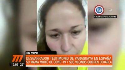 Mujer que superó el coronavirus en España pide ayuda para volver al país
