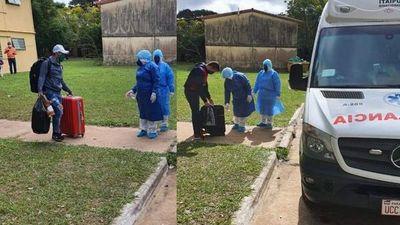 Ayolas; 4 compatriotas que dieron positivo al COVID-19 en el G4 ya son trasladados a un albergue especial