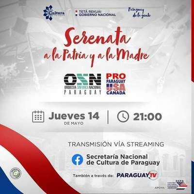 Paraguay conmemorará 209 años de Independencia Nacional con una serenata virtual