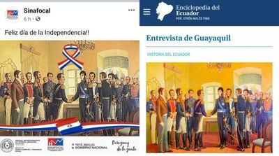 Sinafocal confunde a Simón Bolívar y San Martín con los próceres de mayo
