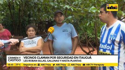 Vecinos claman por seguridad en Itauguá