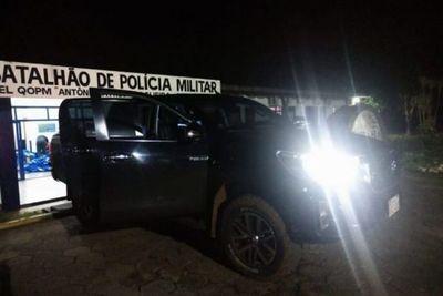 Camioneta con chapa paraguaya es abandonada con más de media tonelada de marihuana en Ponta Porã