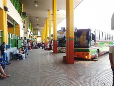 Pasajeros deberán cumplir con protocolo para abordar buses en Terminal de Asunción