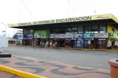 Terminal de Ómnibus de Encarnación vuelve a operar con estrictos controles sanitarios