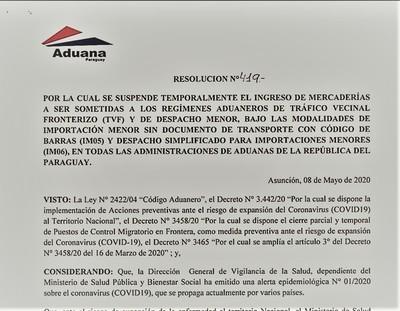 """Suspenden """"PACOTILLA"""" utilizada para el CONTRABANDO al """"POR MAYOR"""""""