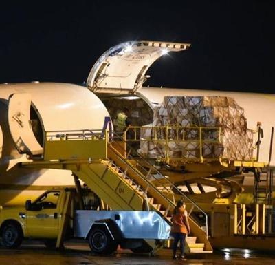 Aduanas liberó carga de insumos llegados de China
