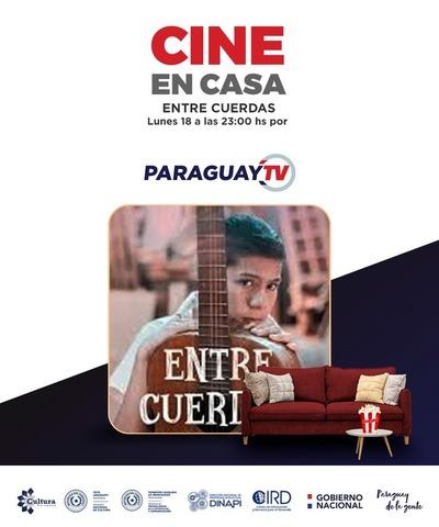 """""""Entre Cuerdas"""" por Paraguay TV en Festival Cine en Casa"""