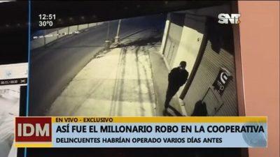 Video revela nuevos datos sobre el millonario asalto en cooperativa