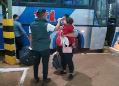 Concepción: Realizan procedimiento en la Terminal de Ómnibus