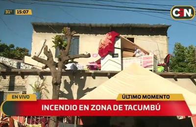 Incendio de vivienda en el Barrio Tacumbú
