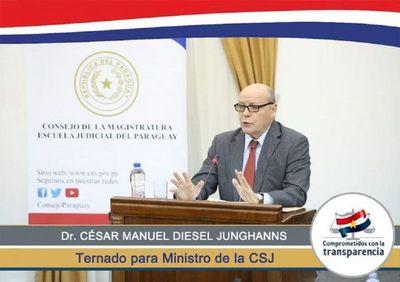 Ejecutivo da acuerdo constitucional para que César Diesel sea el nuevo ministro de la Corte Suprema