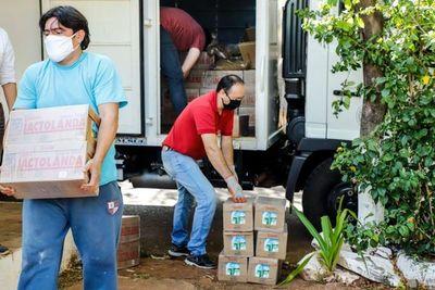 MDS entrega productos alimenticios a comedores de Mariscal López