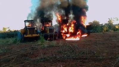 Desconocidos retuvieron a peones y quemaron tractores en estancia de Yby Yaú