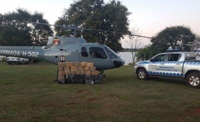 600 kg de marihuana incautadas cerca del Lago Itaipu