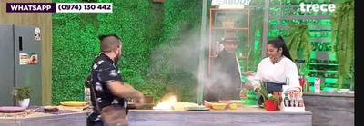 """Incendio en Mucho Gusto: """"Felizmente no quemamos todo el estudio"""", dijo el chef"""